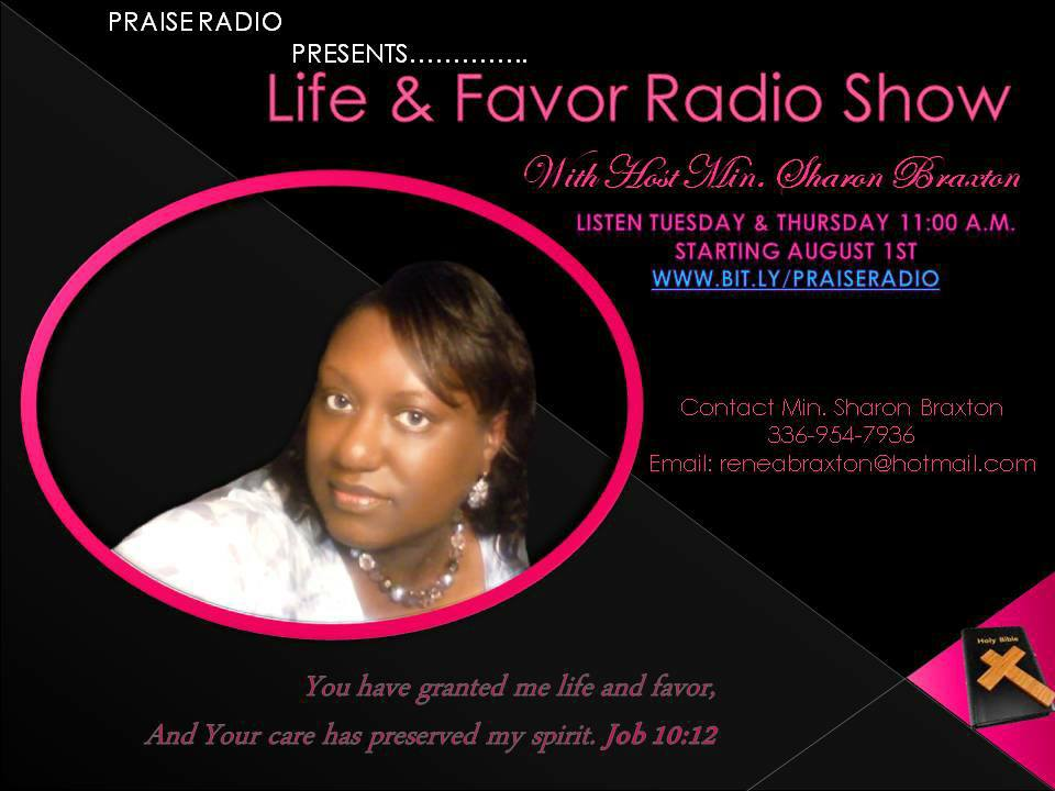 sharon radio program flyer