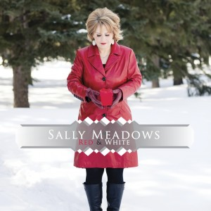 SALLY MEADOWS red-and-white CD COVER